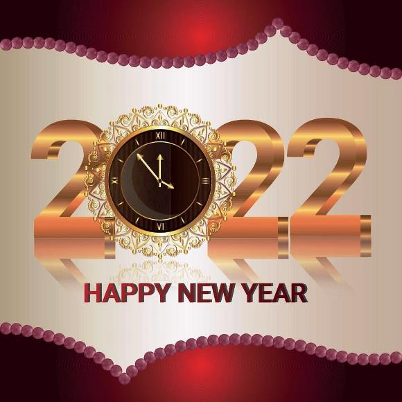 Happy New Year Greeting Cards 2022